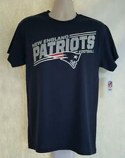 New England Patriots NFL Men's Navy Blue Team Logo Short Sleeve T-Shirts: M-XL
