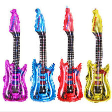 Inflatable Blow Up Rock Roll Air Guitar Music Instrument Toy For Party Holiday