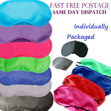 RED - TRAVEL EYE MASK, SLEEP SLEEPING COVER REST EYEPATCH BLINDFOLD COLOURS