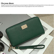 Fashion Women Zip Leather Clutch Phone Bag Long Lady Purse Wallet US Warehouse