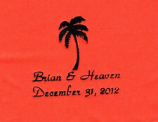 PALM TREE LOGO 50 Personalized printed LUNCHEON DINNER  napkins