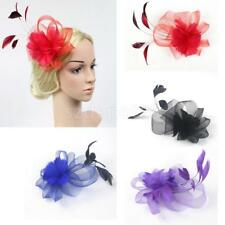 Wedding Bridal Prom Party Feather Fascinator Hair Clip Headpiece Headwear