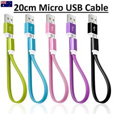 Short Magnetic Flat Micro USB Cable Data Charger for Samsung LG Sony HTC Galaxy