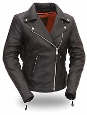 First Classics Women's Hourglass Leather Motorcycle Jacket FIL103MNZ