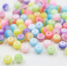 Mixed Colorful Round Acrylic Loose Spacer Beads Jewelry DIY 6mm 8mm 100/200Pcs