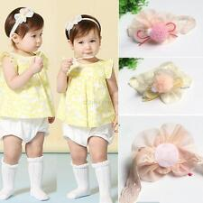 Kid Baby Girls Infant Lace Flower Headband Hair Bow Band Accessories Headdress