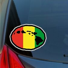 Kanaka Maoli Rasta Hawaiian Islands sticker decal Hawaii native local 808 HI HNL