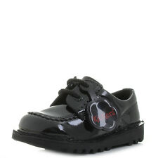 Kids Girls Infant Kickers Lo Black Patent Smart School Shoes Shu Size