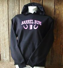 """BARREL BUM"" HOODIE & SWEATPANTS-Sweatshirt Black Racing Cowgirl Up Rodeo Set"