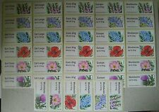 Post & Go-British Flora 2-Symbolic Flowers-1st Class/Collector Strips/Sets-NCR
