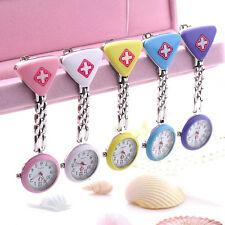 New Stainless Steel Medical Doctor Brooch Fob Quartz Cross Nurse Pocket Watches