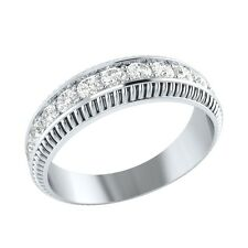 0.48 ct Natural Certified Diamond Solid Gold Half Eternity Wedding Band Ring