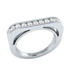 0.59 ct Natural Certified Diamond Solid Gold Half Eternity Wedding Band Ring
