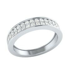 0.54 ct Natural Certified Diamond Solid Gold Half Eternity Wedding Band Ring