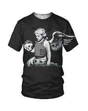 Banksy Angel With A Skull Street Art Men's And Ladies Fashion T Shirts