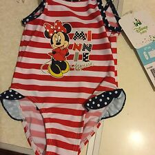 DISNEY MINNIE MOUSE CHILDRENS KIDS BABY TODDLER INFANT SWIMSUIT SWIMMING COSTUME