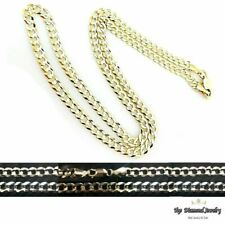 "14k Solid Yellow Gold Cuban Curb Link Necklace Chain 24"" 3.6mm"