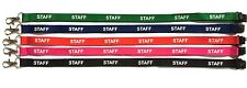 STAFF Lanyard & Free ID Card Pass Badge Holder 5 Colours to Choose From