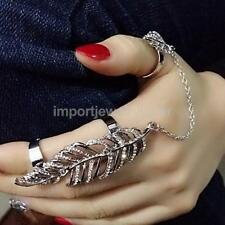Fashion Women Punk Rock Crystal Diamante Multiple Finger Stack Knuckle Band Ring