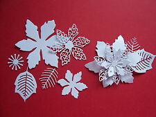 **TATTERED LACE CHRISTMAS LAVISH POINSETTIA DIE CUTS **20 COLOURS**