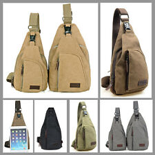 Men's Military Canvas Shoulder Satchel  Bag Messenger Travel Hiking Backpack Bag