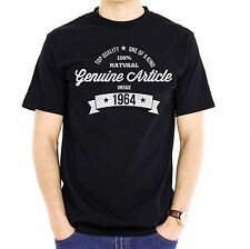 NEW - GENUINE ARTICLE 1964 - Men's Black Cotton T-Shirt - Birthday Gift Present