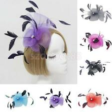 Feather Wedding Ladies Day Ascot Race Fascinator on Clip Hair Accessories Decor