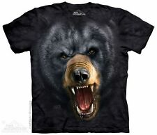 Angry Black Bear T-Shirt from The Mountain - Sizes Adult S - 5X