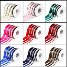 Quality 25 Yards/23 Metres Double Sided Satin Ribbon Widths 10mm 20mm 25mm 38mm