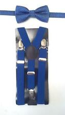 "Baby Boy's Royal Blue 26"" Adjustable Suspenders - Choose 1 of 4 Bow Tie Styles"