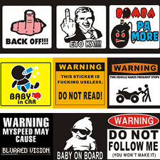 Car Window Motorcycle Wall Warning Alarm Decorative Sticker Decal Vinyl Graphic