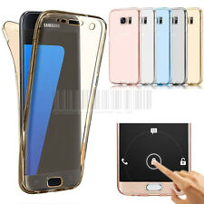 360° Full Body Shockproof Slim Soft Clear Protective TPU Gel Rubber Case Cover