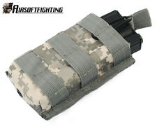 Military Tactical Open Top Molle AEG Single 5.56/.223 Magazine Pouch Bag ACU