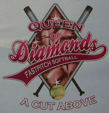 ALL AMERICAN GIRL FAST PITCH SOFTBALL QUEEN OF DIAMOND CUT ABOVE SHIRT #256