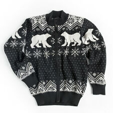 NEW! Vrikke Men's Norwegian 100% Wool Polar Bear Cardigan Sweater