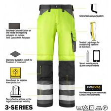 Snickers 3333 High Visibility Work Trousers Snickers Direct Yellow