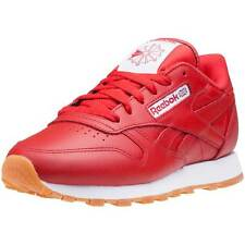Reebok Cl Lthr Gum Womens Trainers Red White New Shoes