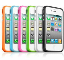 NEW STYLISH GRIP BUMPER GUARD CASE RIM METAL BUTTONS COVER FOR APPLE IPHONE 4 4S