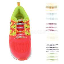 Glow in the Dark Silicone Elastic Shoelaces No Tie Shoe Laces Running Sneakers
