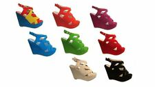 WOMENS PLATFORM HIGH HEEL SUEDE STRAPPY WEDGE SHOES SANDALS SIZE UK 3-8