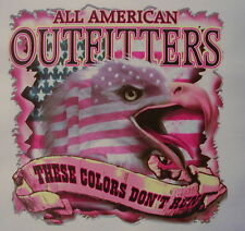 ALL AMERICAN OUTFITTERS THESE COLLORS DON'T RUN WITH EAGLE PRIDE SHIRT #881