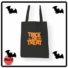 Halloween Trick or Treat Sweets collection bag, Canvas Tote Bag