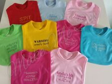 Personalised BIB ANY MESSAGE,NAME 1st BIRTHDAY. Baby or Toddler. CHRISTENING