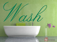 Wash Quote, Vinyl Wall Art Sticker Decal Mural, Bathroom, Toilet Decor
