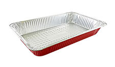 Handi-Foil Full-Size Deep Premium RED Aluminum Steam Table Pan Party Food Tray