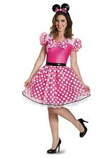 Adult  Disney Minnie Mouse Polka Dotted Pink Glam Womens Costume