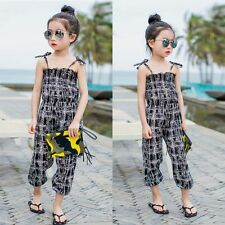 Kid Girl Summer Strap Romper Jumpsuit One-piece PantsTrouser Outfit Casual Cloth