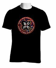 Kiss Rock Band Black T-shirt Paul Peter Ace Gene Rock Band Tshirt S to 2XL