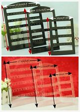 Set of 3 Colour Choice plastic jewelery display EARRING holder show case stand