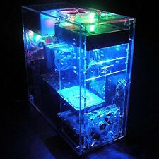 Premium DIY Acrylic PC Case Clear computer Case Fr Water Cooling System No PSU